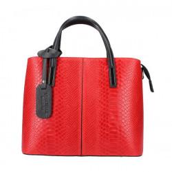 Červená kožená kabelka 960, Červená