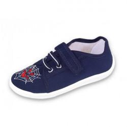 Chlapčenské papučky modré na suchý zips Raweks, Modrá, 32