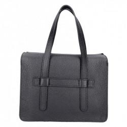 Čierna kožená kabelka Armei 5302 MADE IN ITALY, Farba čierna  5302
