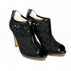 Čierne dámske lodičky na zips 636 Elisa Morelli, Čierna, 39 #1