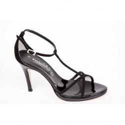Čierne dámske sandále 1225 ZODIACO, Čierna, 38