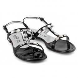 Čierne sandále zdobené kamienkami 905 ZODIACO, Čierna, 38 #1