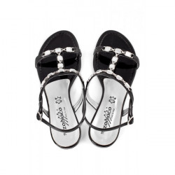 Čierne sandále zdobené kamienkami 905 ZODIACO, Čierna, 38 #4