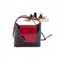 DÁMSKA CROSSBODY KABELKA 1161 čierna+červená MADE IN ITALY 1161