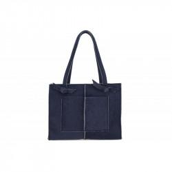 Dámska filcová kabelka na rameno 805 modrá MADE IN ITALY, modrá