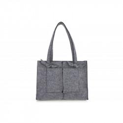 Dámska filcová kabelka na rameno 805 šedá MADE IN ITALY,