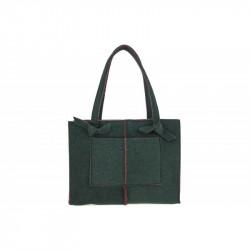 Dámska filcová kabelka na rameno 805 zelená MADE IN ITALY,