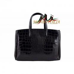 Dámska kabelka do ruky čierna 843 MADE IN ITALY 843