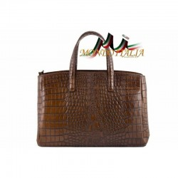 Dámska kabelka do ruky hnedá 843 MADE IN ITALY 843