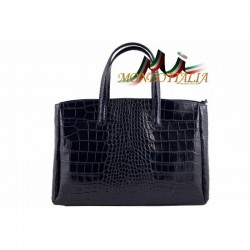 Dámska kabelka do ruky tmavomodrá 843 MADE IN ITALY 843