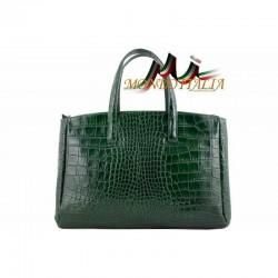 Dámska kabelka do ruky zelená 843 MADE IN ITALY 843