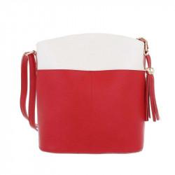 Dámska kabelka na rameno 1490 červená DUDLIN, červená
