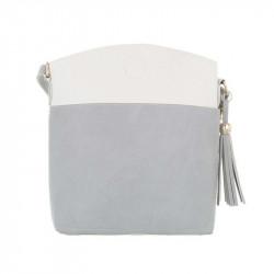 Dámska kabelka na rameno 1490 šedá DUDLIN, šedá