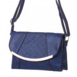 Dámska kabelka na rameno 203A, Modrá