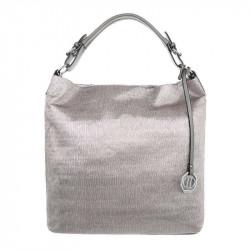 Dámska kabelka na rameno 22 metalická šedá, šedá