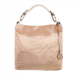 Dámska kabelka na rameno 22 ružovo-zlatá, ružová