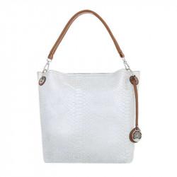 Dámska kabelka na rameno 24 biela perleť, biela