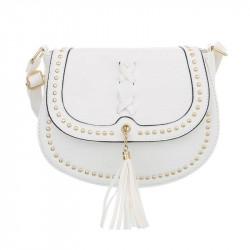 Dámska kabelka na rameno 28 biela, biela