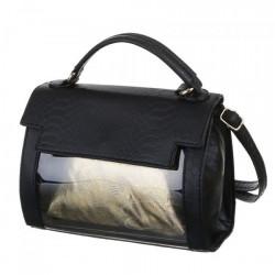 Dámska kabelka na rameno 29B čierna, Čierna