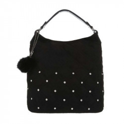Dámska kabelka na rameno 5013 čierna, čierna