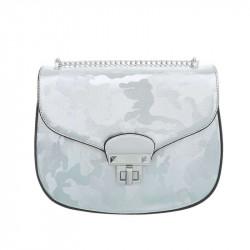 Dámska kabelka na rameno 5069 strieborná modrá, modrá