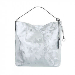 Dámska kabelka na rameno 5071 modro strieborná, modrá