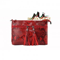Dámska kožená kabelka 1441 červená MADE IN ITALY 1441 7d6bd4c6648