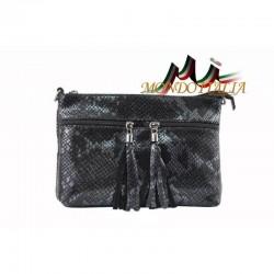 Dámska kožená kabelka 1441 čierna MADE IN ITALY 1441