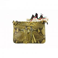 Dámska kožená kabelka 1441 žltá MADE IN ITALY 1441