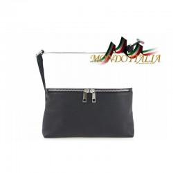 Dámska kožená kabelka 147 čierna + biela MADE IN ITALY 147