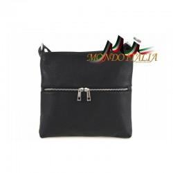 Dámska kožená kabelka 147 čierna MADE IN ITALY 147 f25b1ff305c