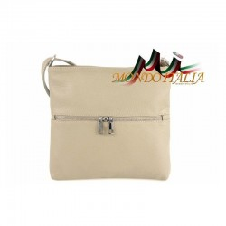 Dámska kožená kabelka 147 šedohnedá MADE IN ITALY 147