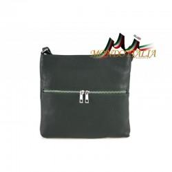Dámska kožená kabelka 147 tmavozelená MADE IN ITALY