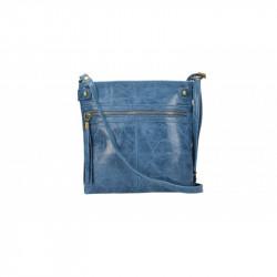 Dámska kožená kabelka 5086 jeans MADE IN ITALY, jeans