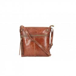 Dámska kožená kabelka 5086 tmavohnedá MADE IN ITALY, hnedá