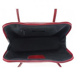 Dámska kožená kabelka 672 červená, Červená #1