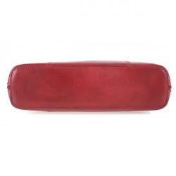 Dámska kožená kabelka 672 červená, Červená #2