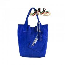 DÁMSKA KOŽENÁ KABELKA 804 azurovo modrá MADE IN ITALY. 39.90€. Talianska  dámska kožená kabelka do ruky 843 ... e929029ef31