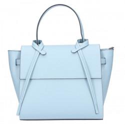 Dámska kožená kabelka 8050 nebesky modrá, Nebesky modrá