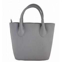 Dámska kožená kabelka 93 šedá Made in Italy, Šedá
