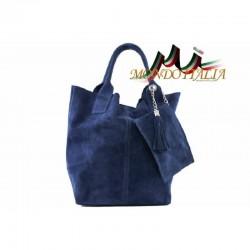 DÁMSKA KOŽENÁ KABELKA jeans  MADE IN ITALY 804