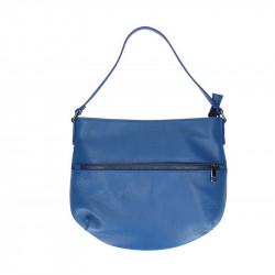 DÁMSKA KOŽENÁ KABELKA NA RAMENO 5311 azurovo modrá, azurovo modrá