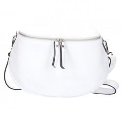 Dámska kožená kabelka na rameno 5332 biela, Biela