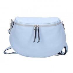 Dámska kožená kabelka na rameno 5332 nebesky modrá, Nebesky modrá