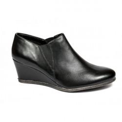 Dámska kožená obuv na klíne 1007 The Flexx Čierna 39