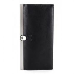Dámska kožená peňaženka 1029 čierna Calypso, Čierna