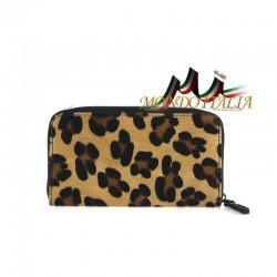 Dámska kožená peňaženka 509 leopard MADE IN ITALY 509