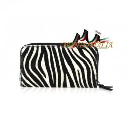 Dámska kožená peňaženka 509 zebra MADE IN ITALY 509