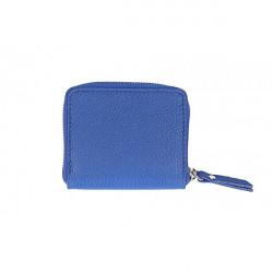 Dámska kožená peňaženka 571 azurovo modrá, Modrá