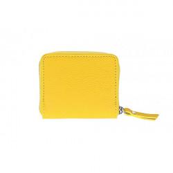Dámska kožená peňaženka 571 žltá, Žltá